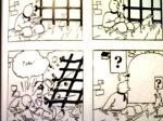 berkat bersin, Tintin lolos dari gorong-gorong